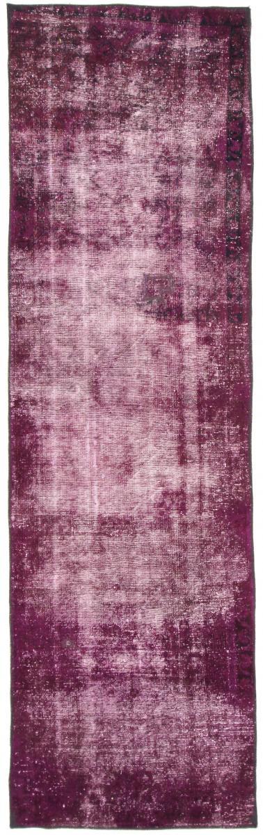 10x3 Vintage Persian Rug runner, 3.1mx.9m beige dark red beige persian vintage distressed persian carpet