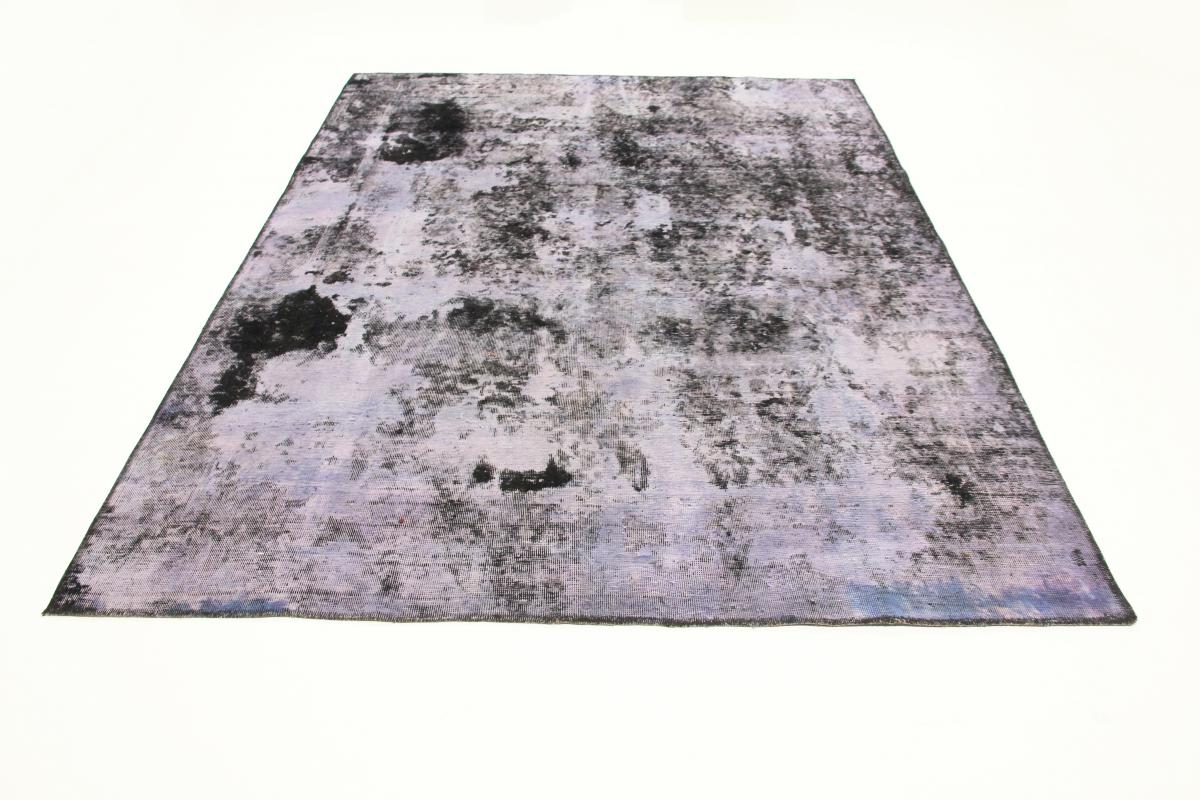 7x6 Vintage Persian Rug , 2,4x1,9m faded blue persian vintage distressed persian carpet