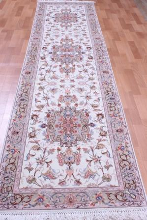 11' 3m silk tabriz persian rug runner