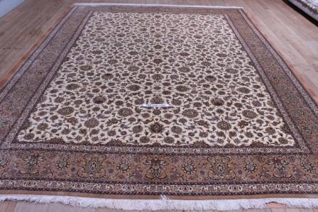 10x13 750kpsi pure silk Qum Persian rug
