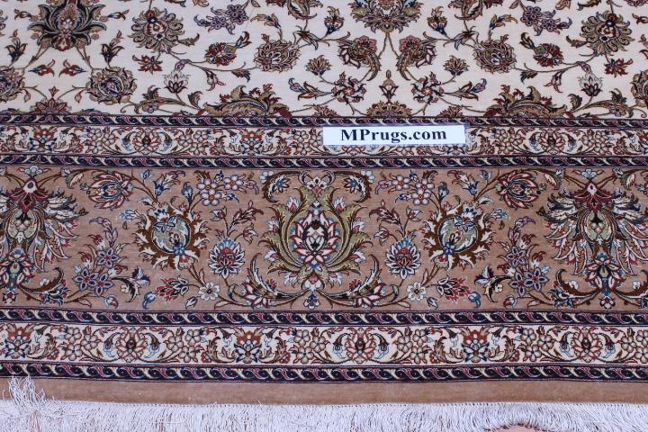 11x8 700 KPSI pure silk qum persian rug