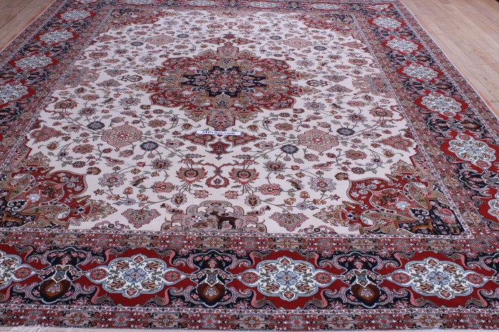 10x13 Allebov 400kpsi silk foundation Tabriz Persian rug