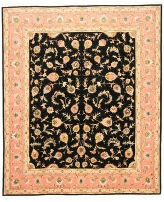 55 Raj Tabriz Persian rug with a silk foundation. Masterpiece Tabriz Persian carpet.