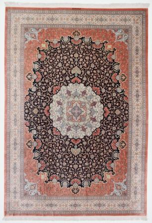 3mx4m highest quality Qom silk Persian rugs. Pure Silk Qum Persian carpet in 3m by 4m size.