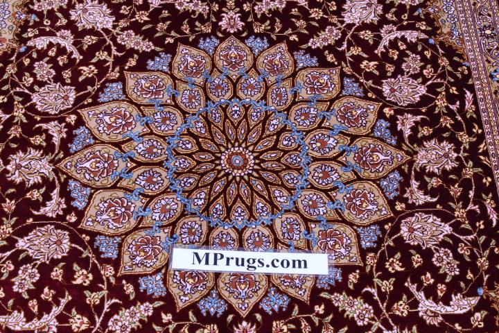 4x6 silk qum Persian rug with 600 kpsi
