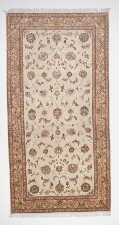13x6 50 Raj Tabriz Faraji Persian rug with silk. Faraji Tabriz Persian carpet.