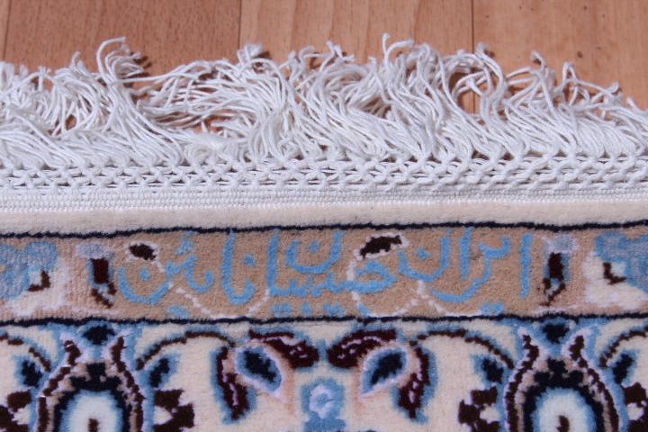 Nain 6Lah Persian rug runner. Very fine Nain Persian carpet runner with lots of silk highlights.