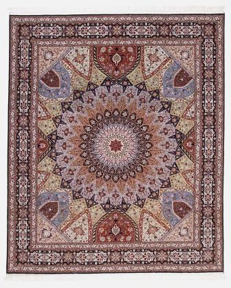 Large 10x8 Gonbad Tabriz Persian rug. Dome Design Gombad Tabriz Persian carpet.