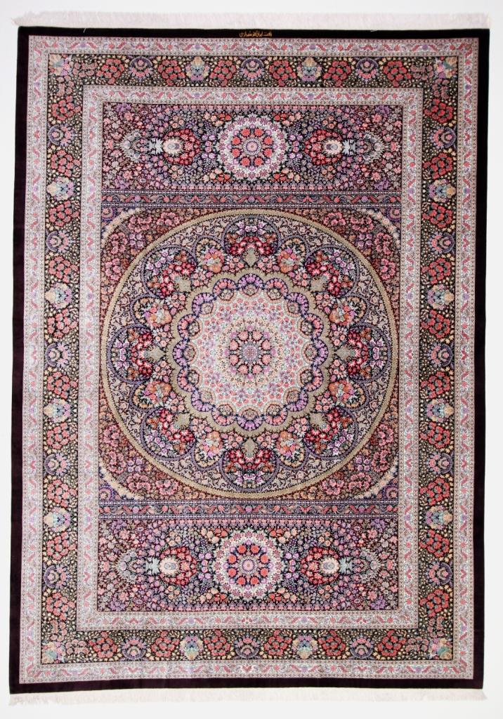 Large High Quality Silk Qom Persian Rugs Gorgeous Qum Carpets