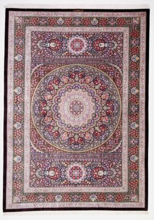 600 KPSI Qom silk Persian rugs. Pure Silk Qum Persian carpet with highest quality.