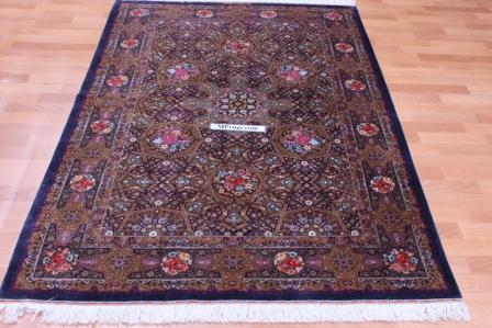 800 KPSI Gonbad Qum Persian rugs. Pure Silk Qum Persian carpet Masterpiece.