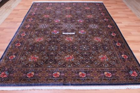 800 KPSI Gonbad Qum Persian rugs. Pure Silk Qum Persian carpet Masterpiece.