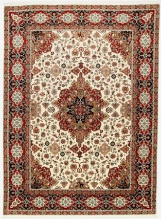 60 Raj Allebov Tabriz Persian rug with a silk foundation. 10x13 silk Allebov Tabriz Persian carpet