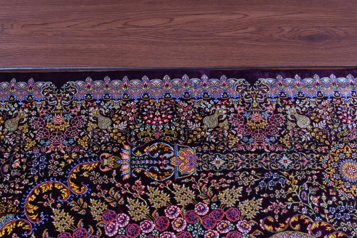 4x3 silk qum Persian rug 800 kpsi, silk Qom carpet