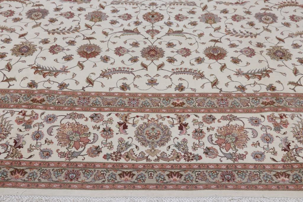 400KPSI Signed Faraji 15x11 Tabriz Persian rug with Silk