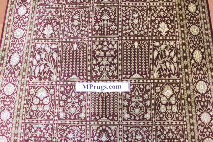 3x5 silk qum Persian rug with signature