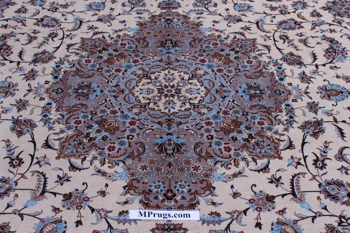 10x13 625kpsi pure silk Qum Persian rug