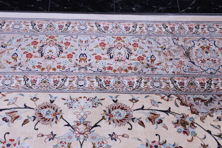 10x13 700kpsi pure silk Qum Persian rug