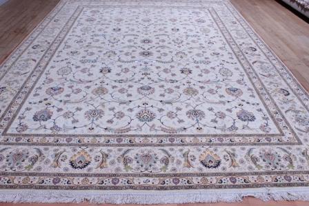 10x13 400 kpsi Faraji silk Tabriz Signature Persian Rug