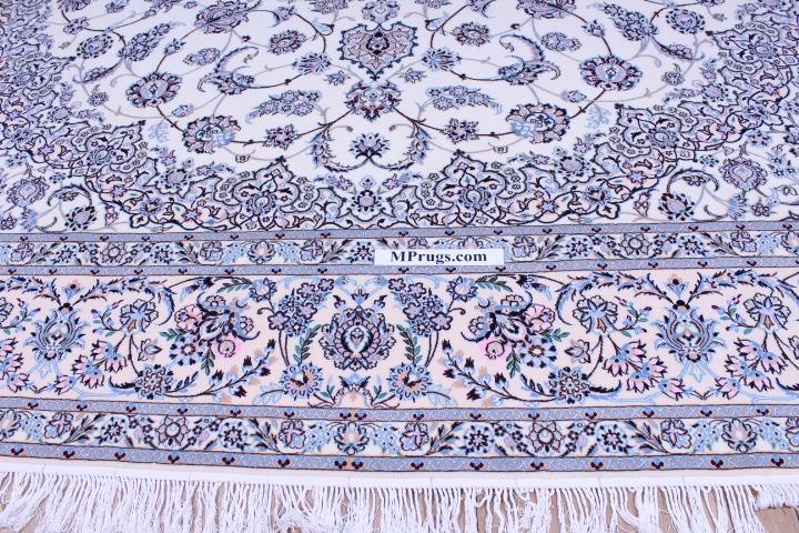 8x5 Nain 6la persian rug with 500 kpsi
