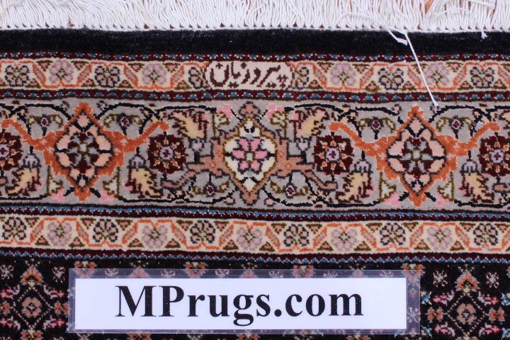 Tabriz Pirouzian runner Persian rug; Mahi Persian Carpet made of the finest kurkwool/silk.