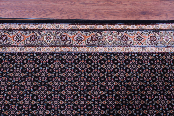 Tabriz Pirouzian runner Persian rug; Mahi Persian Carpet made of the finest kurkwool/silk