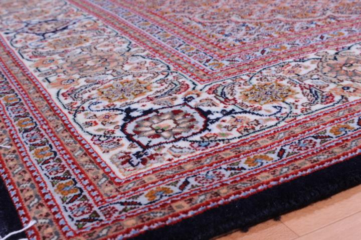 Dark Mahi Tabriz Persian rug. Signed Mahi Tabriz Persian carpet