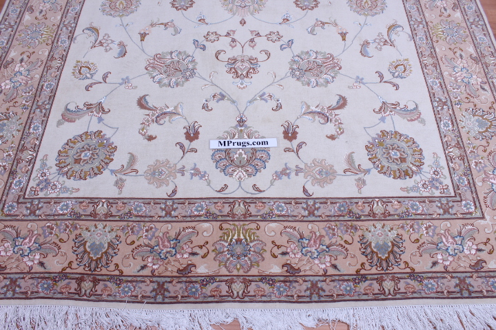 13x6 4x2m silk Tabriz Persian rug, 350 KPSI 50 raj handmade Tabriz carpet.