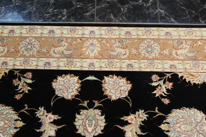 Silk Tabriz Persian rug, silk high quality Tabriz carpet.