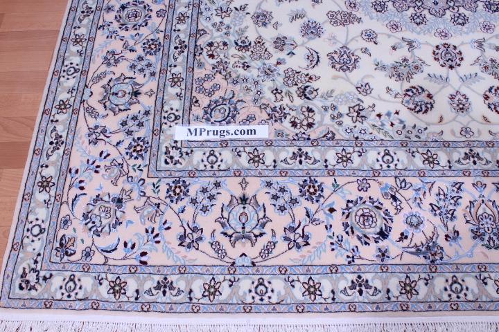 6x6 Nain Square Persian rug 6Lah ~500 KPSI