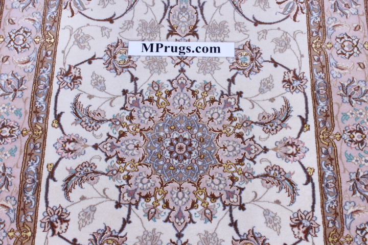 12' 4m Isfahan silk Persian rugs