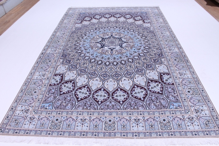 7x10 Nain Gonbad Persian rug 6Lah 500kpsi with silk