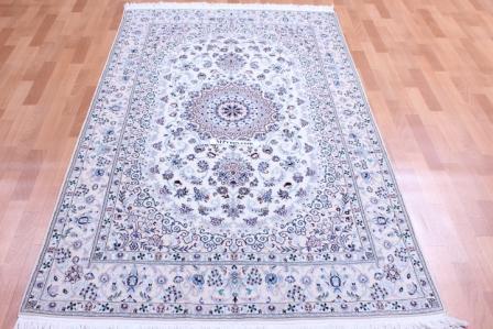 6Lah Nain Persian rug, 500 KPSI silk Nain carpet.
