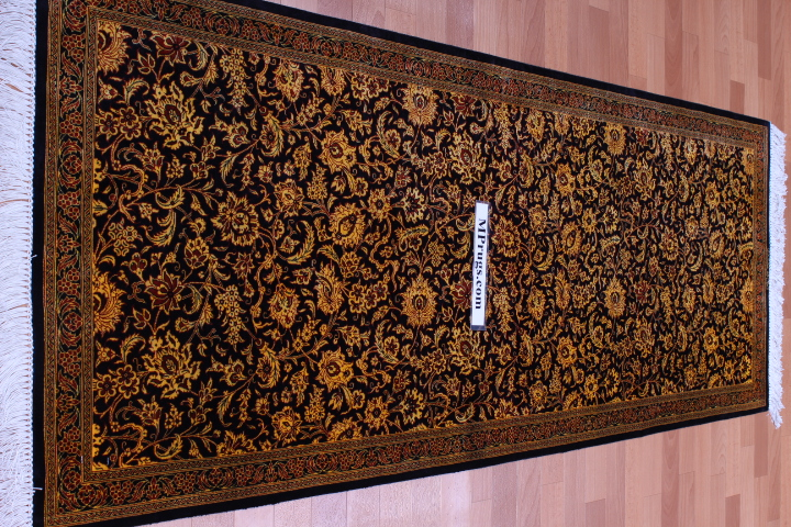 Versace Design Twin Qum Silk Persian Rugs Runner