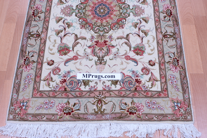 13' 4m Tabriz silk Persian rugs