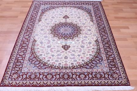 4x6 silk qum Persian rug with 600 kpsi