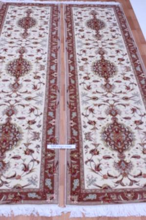 Twin high quality Tabriz Persian rugs