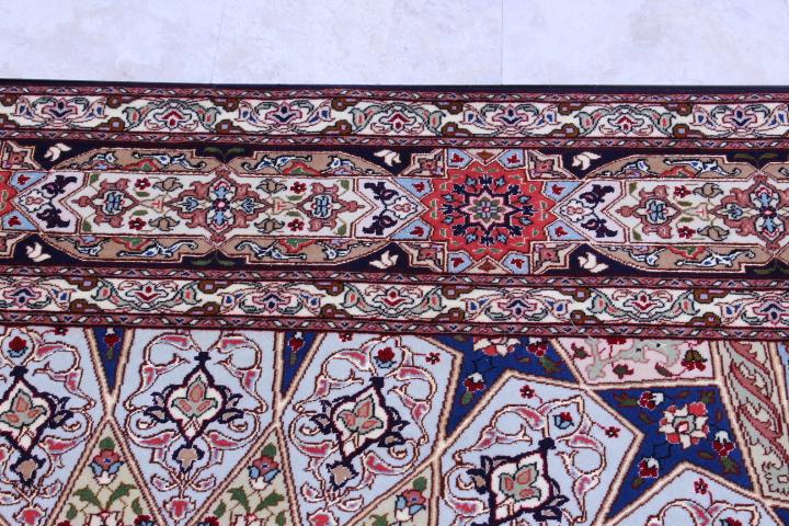 Large 9x6 Gonbad Tabriz Persian rug. Dome Design Jafari Gombad Tabriz carpet.