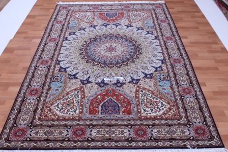 x-Large 3m x 2,5m Tabriz Gonbad Persian rug, 10x8 Gombad Tabriz carpet