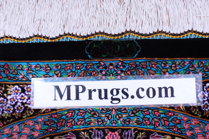 5'x3' pure silk Qum Persian rug with signature