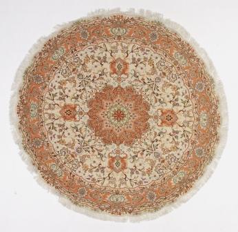 Round Tabriz Persian rug; 6' 2m round tabriz Persian Rugs genuine handmade. high quality round Persian rug