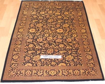 3x5 600 kpsi qum Persian rug with signature; versace Qum silk carpet