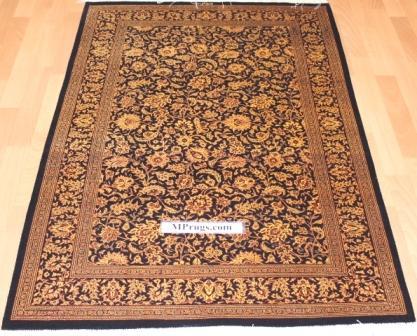 3x5 600 kpsi qum Persian rug with signature; versace Qum silk carpet