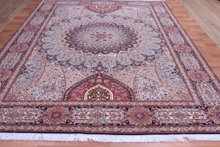 8x11 Gonbad Tabriz Persian rug