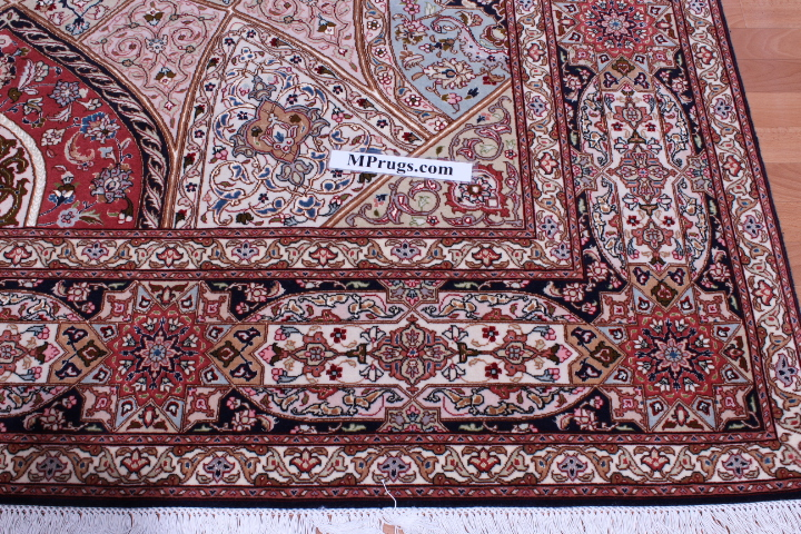 11x8 Gonbad Tabriz Persian rug on sale. Low priced Dome Design Gombad Tabriz Persian carpet.