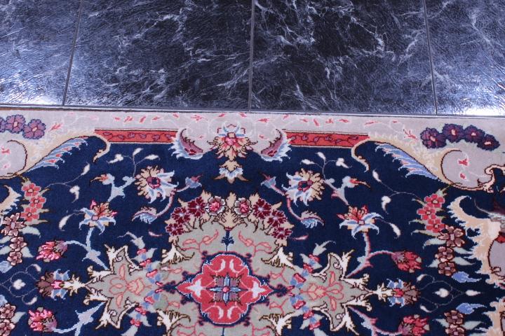 8x6 Faraji Tabriz Persian rug, 350 KPSI 50 raj handmade Tabriz carpet.