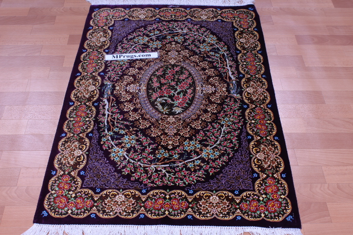 4 X3 1 2x0 8m Silk Qum Persian Rugs Qom 700kpsi Carpets