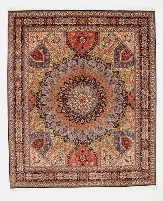 10x8 Gonbad Tabriz Persian rug. Dome Design Gombad Tabriz Persian carpet.