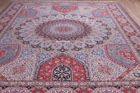 10x13 400kpsi silk foundation Gonbad Tabriz Persian rug