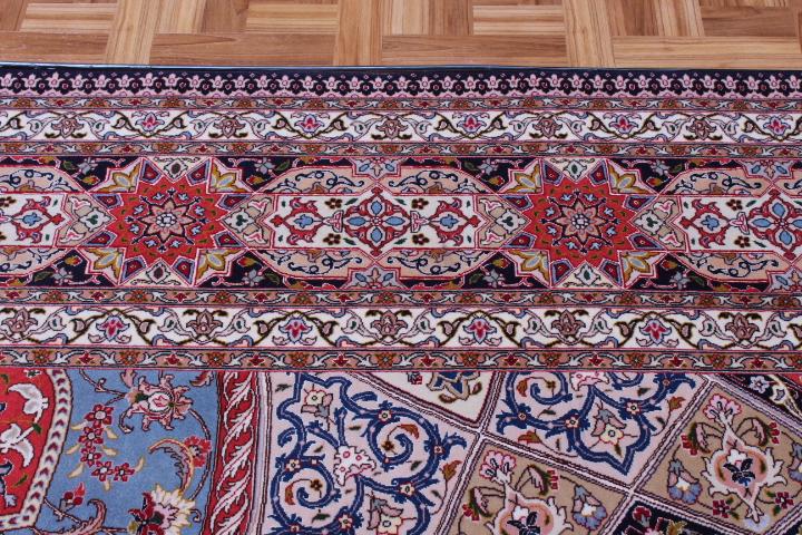 Large 10x13 400 kpsi Gonbad silk Tabriz Persian Rug